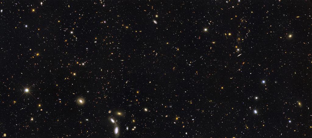 Image of stars in the night sky.