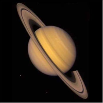 Image of Gas Giant Planet Saturn with Rings.