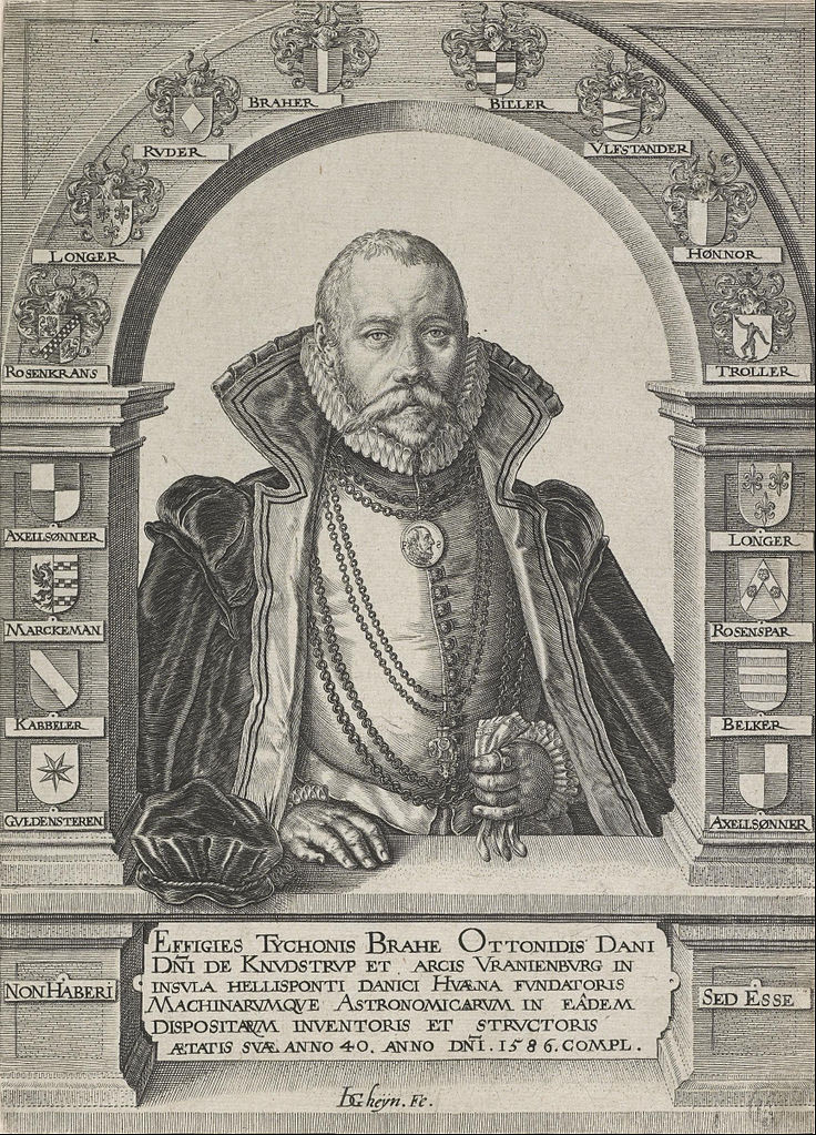 Image of an artist's rendition of Danish Astronomer Tychos Brahe.