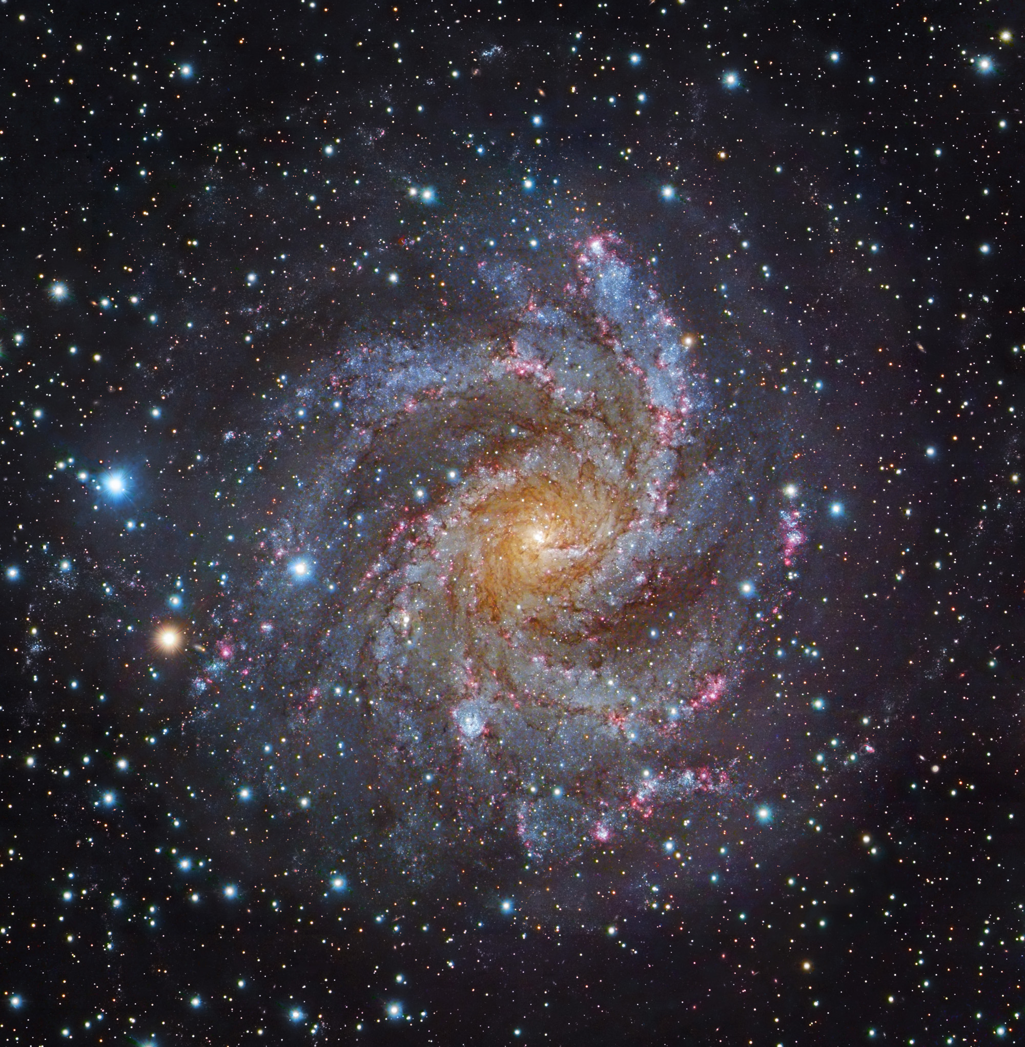 Image of Spiral galaxy, which looks like arms spinning around the center, NGC 6332.