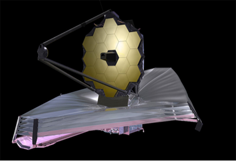 Image of the primary mirrors on NASA's next-generation space observatory telescope.