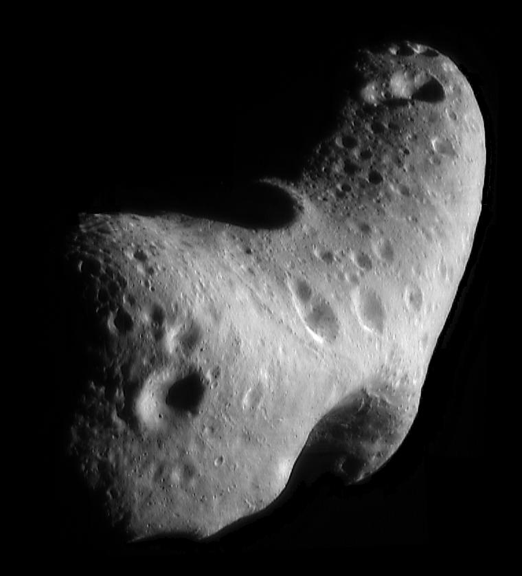 Image of the asteroid, Eros.