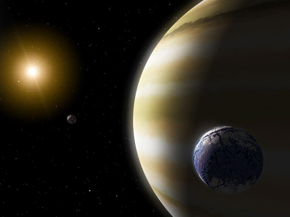 Illustration of an Extra-Solar Planet.