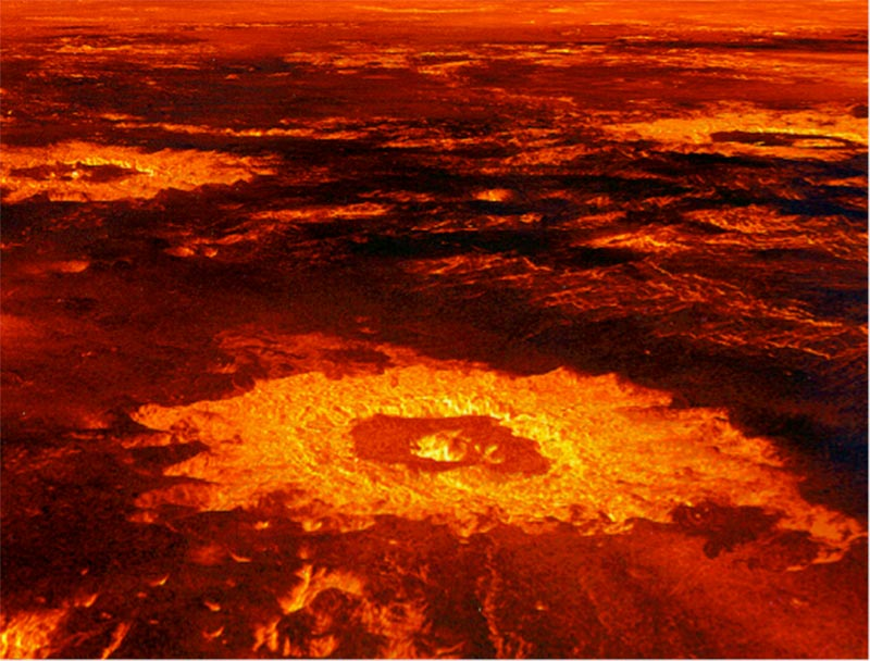 Image of Crater on the surface of Venus.
