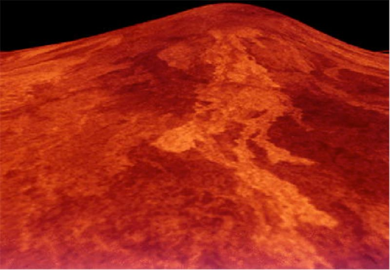 Image of Sif Mons Volcano on Venus.