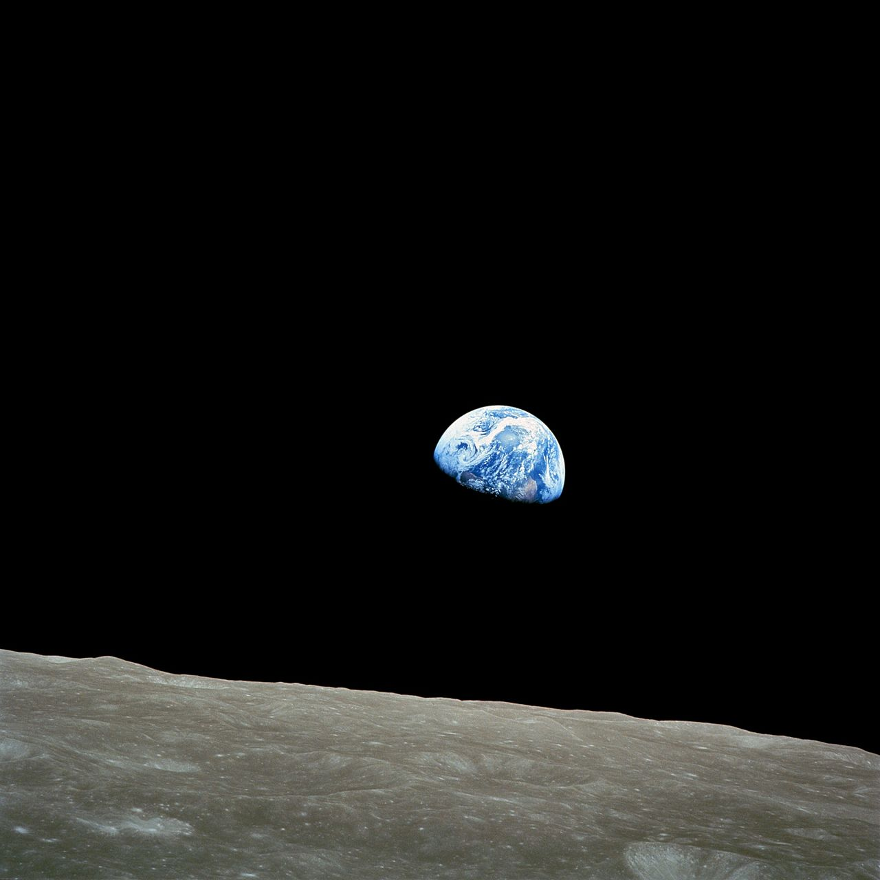 Image of Earthrise from Lunar Orbit.