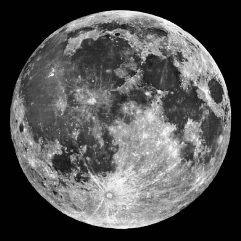 Image of a Full Moon.