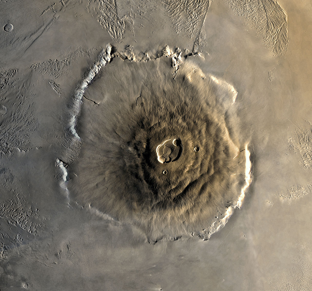 Image of Martian Volcano Olympus Mons.