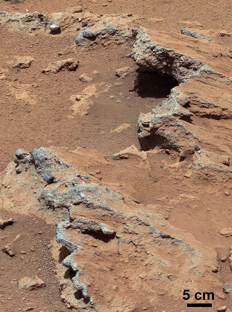 Image of The surface of Mars.