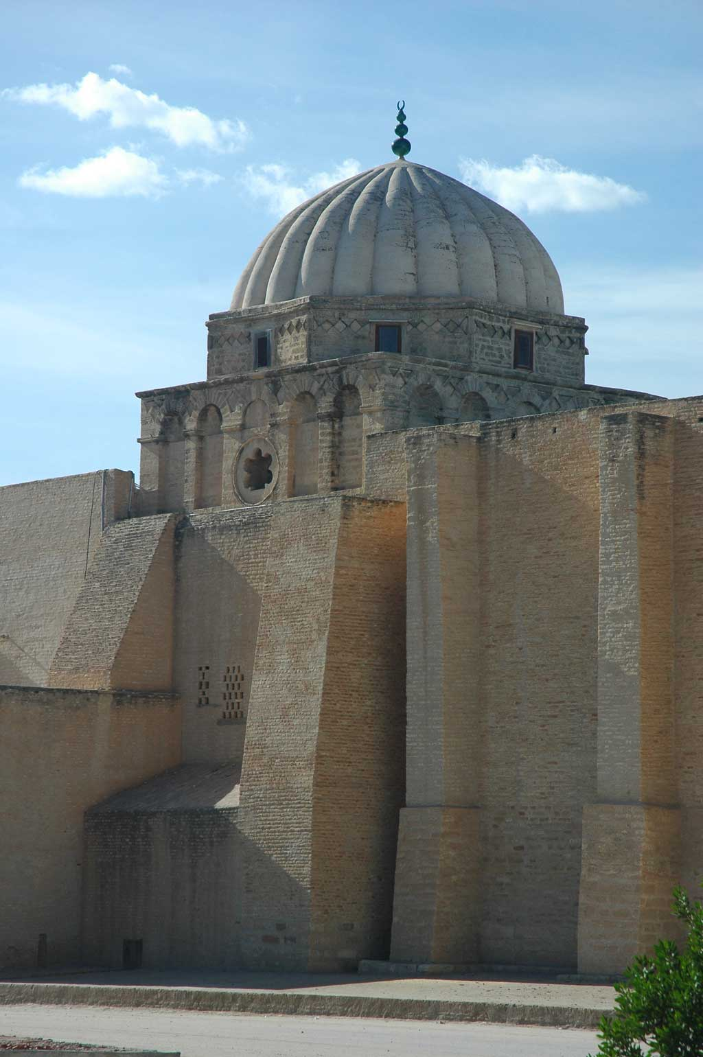Dome of the mihrab that sits atop the Great Mosque of Kairouan, also known as the Mosque of Uqba, in Kairouan, Tunisia.