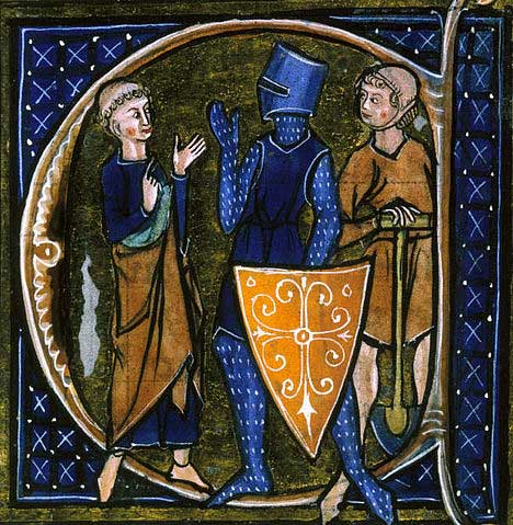 Medieval French manuscript illustration of the three classes of medieval society: those who prayed - the clergy, those who fought — the knights, and those who worked — the peasantry. The relationship between these classes was governed by feudalism and manorialism.