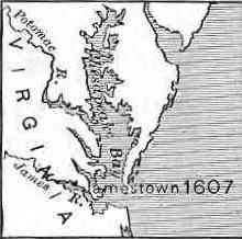 Map of Jamestown dated 1607
