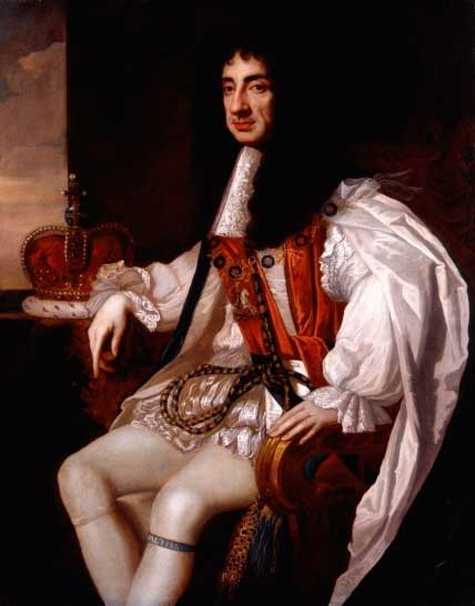 Portrait of Charles II wearing the robes of the Sovereign of the Order of the Garter.
