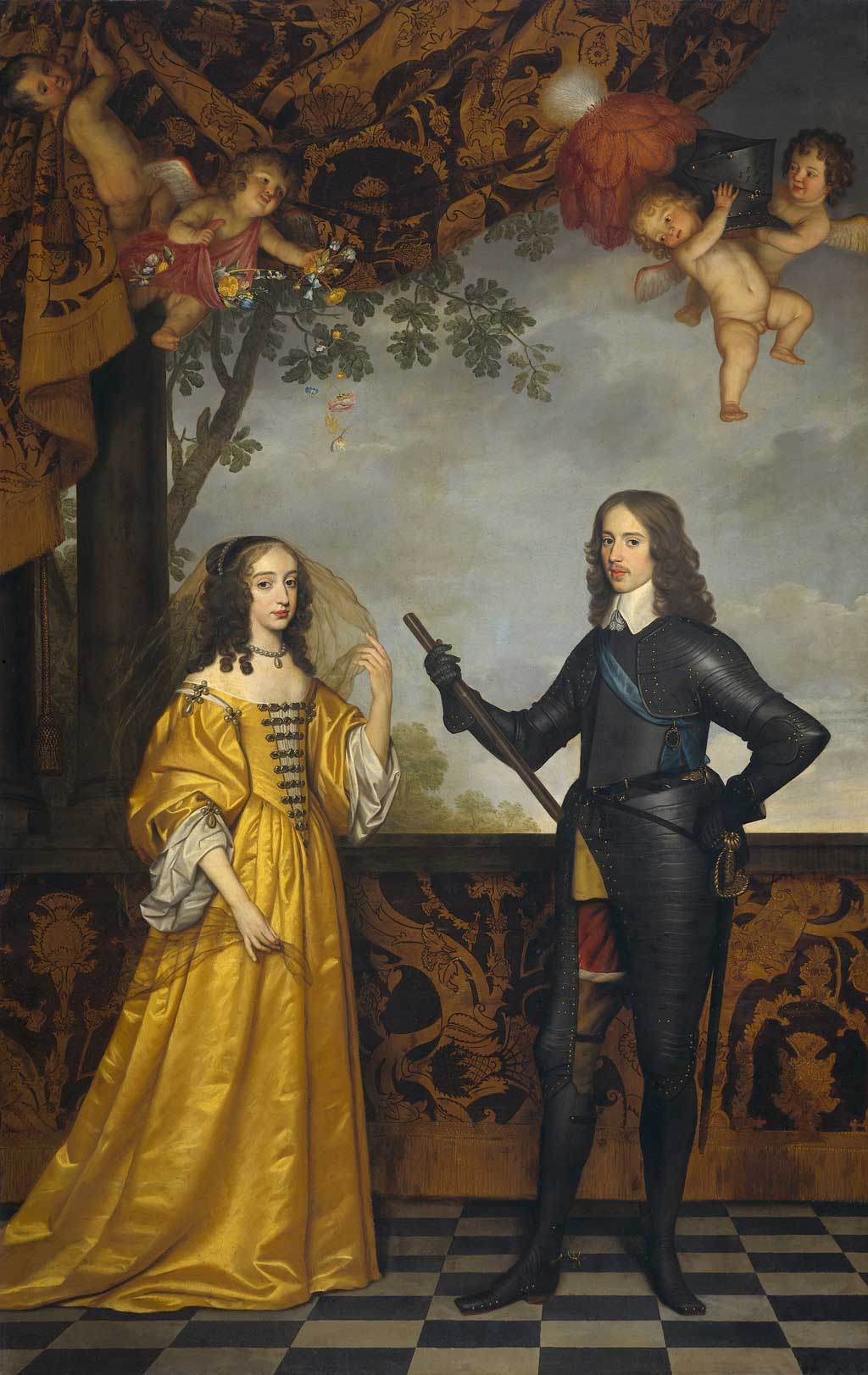Portrait of Prince William II With Mary, Princess Royal and Princess of Orange. 1647