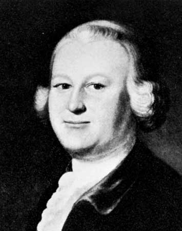 Black and white copy of a painting of James Otis, Jr.