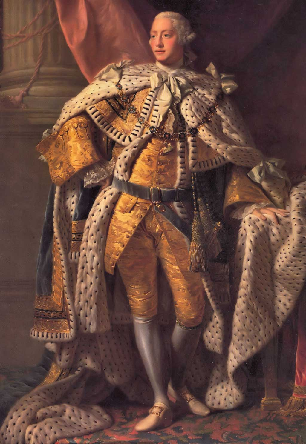 Portrait of George III, standing in coronation robes