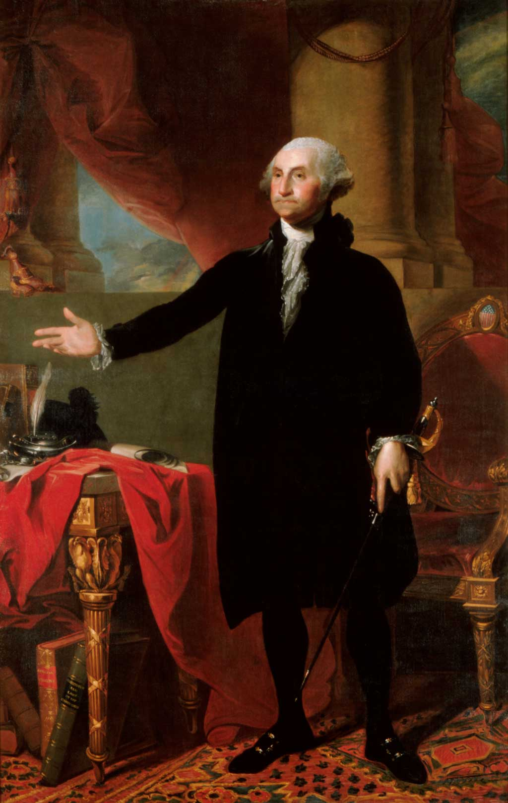 Portrait of George Washington standing