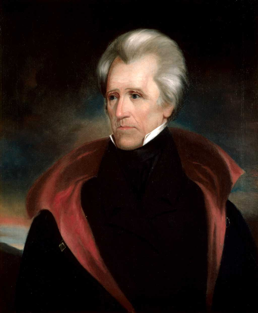 Portrait of Andrew Jackson, the seventh president of the United States.