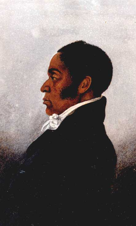 Watercolor by an unknown artist of abolitionist James Forten
