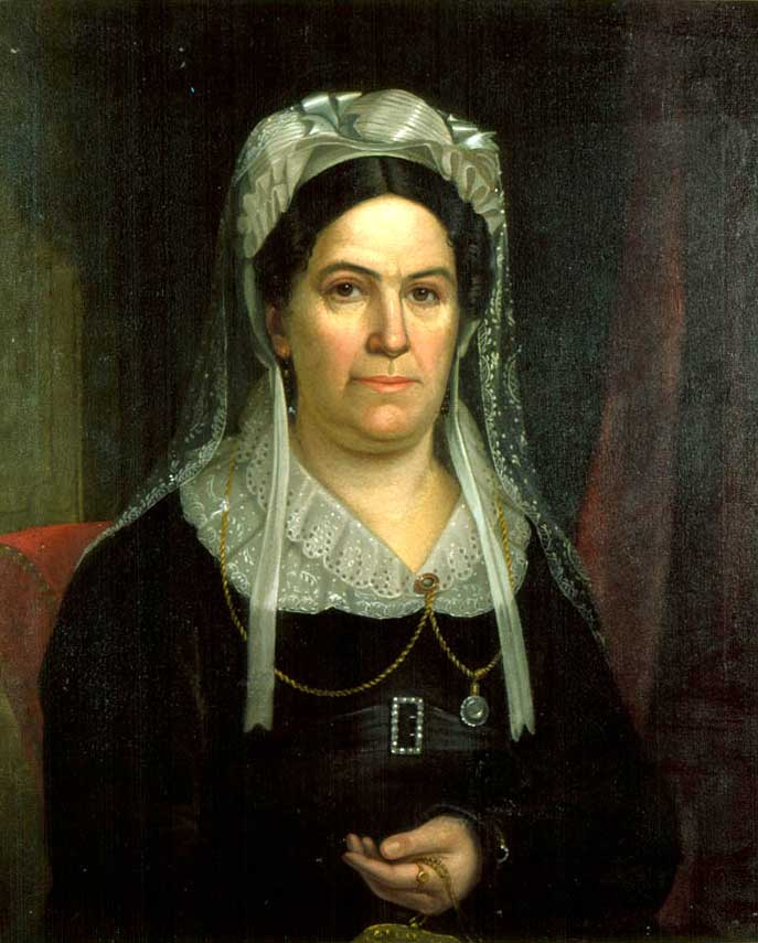 Portrait of Rachel Donelson Jackson, wife of U.S. President Andrew Jackson.