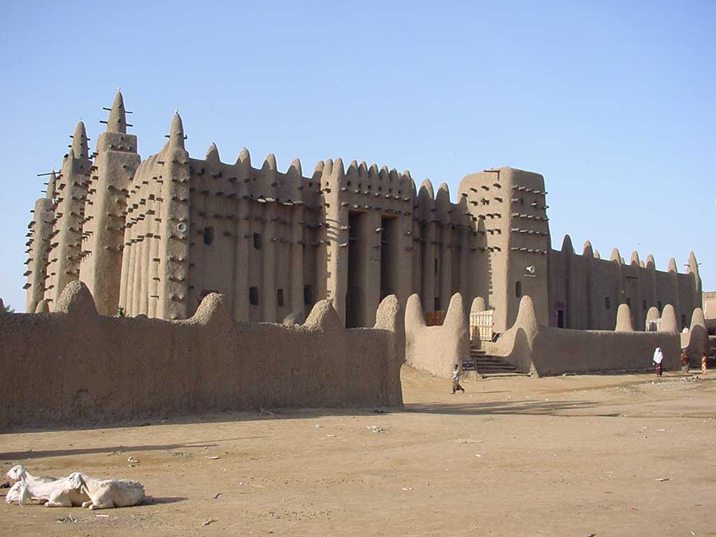 Photograph of the exterior of the Great Mosque of Djenné