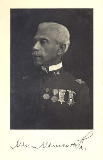 Portrait of Col. Allen Allensworth, facing left.