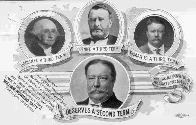 'Deserves A Second Term'. Advertisement for re-election of USA President William Howard Taft, 1912.