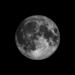 The whole lighted side of the moon is visible