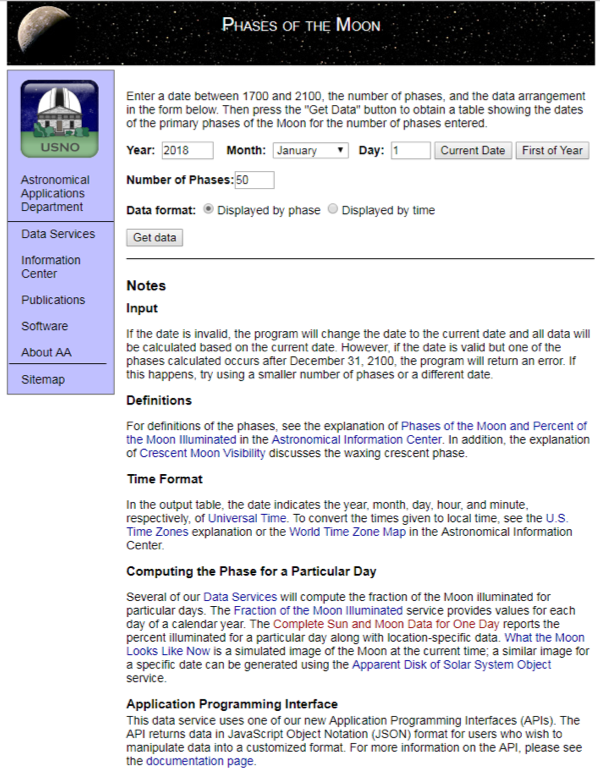 A screen shot of the website is shown.