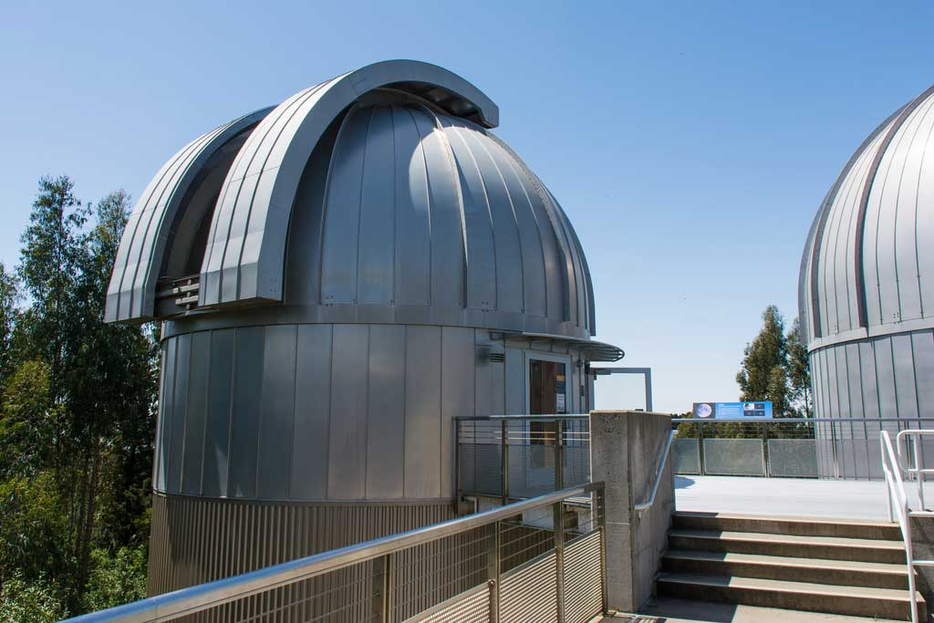 """The dome and building which houses the 20-inch refractor """"Rachel"""" at the Chabot Space and Science Center, Oakland, CA is shown."""