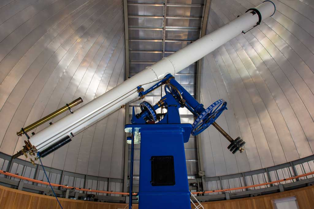 """The 20-inch Refractor """"Rachel"""" at the Chabot Space and Science Center is shown."""