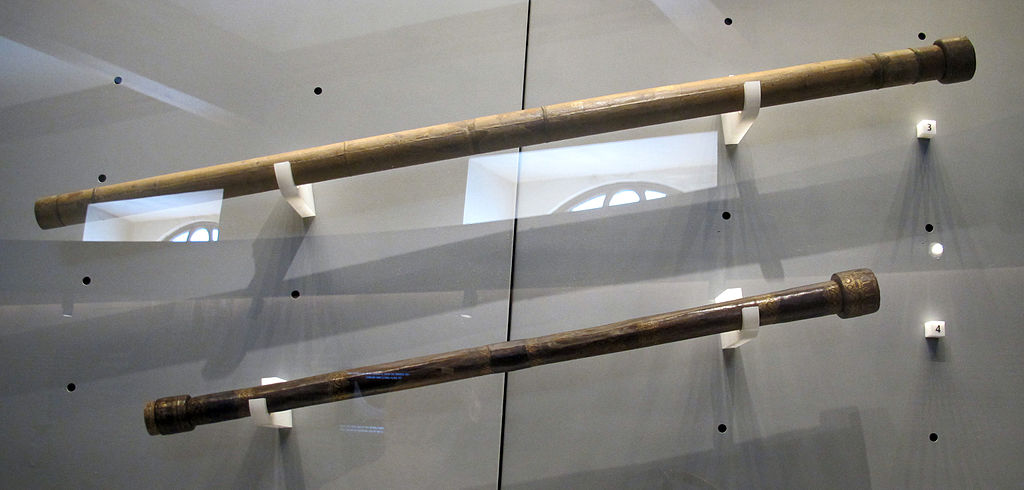 Two of Galileo's telescopes are shown.