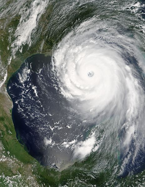 Hurricane Katrina as photographed from Earth orbit.