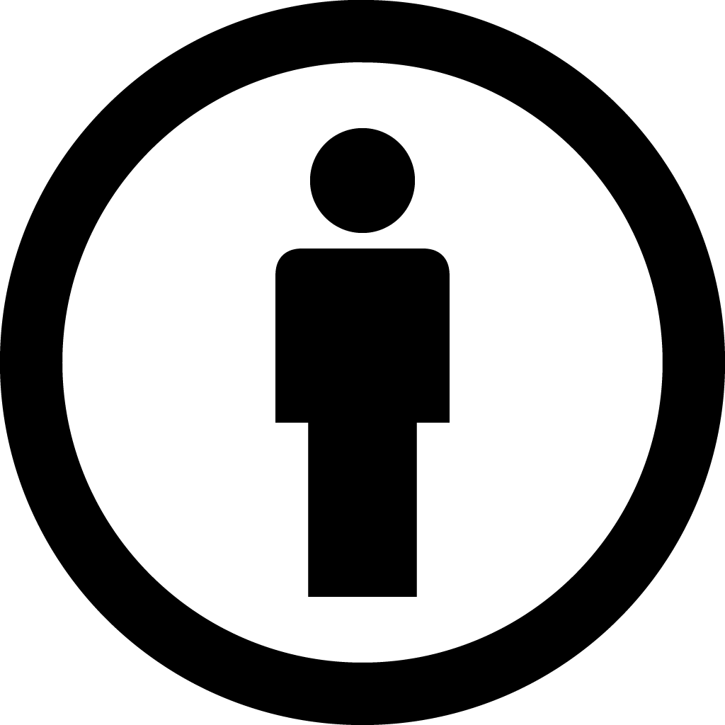 Person icon inside circle.