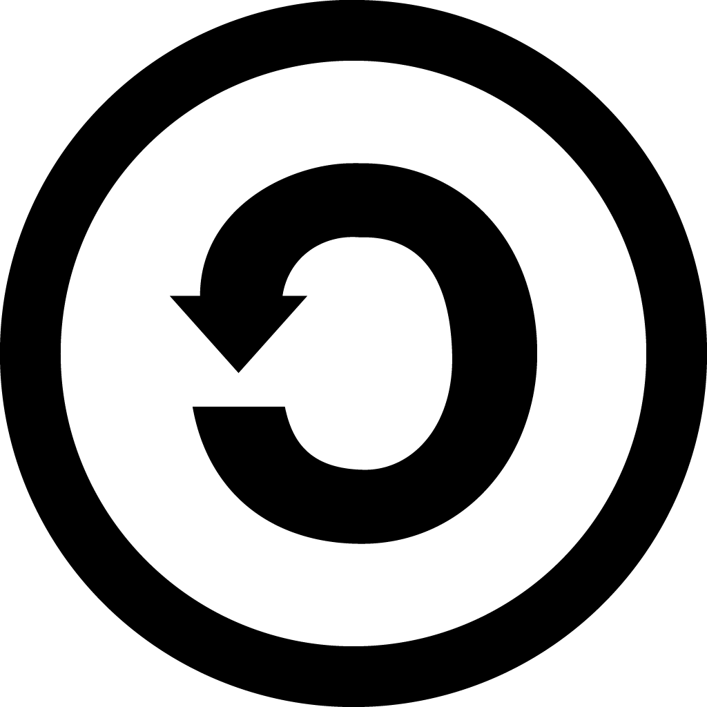 Backward C inside circle.