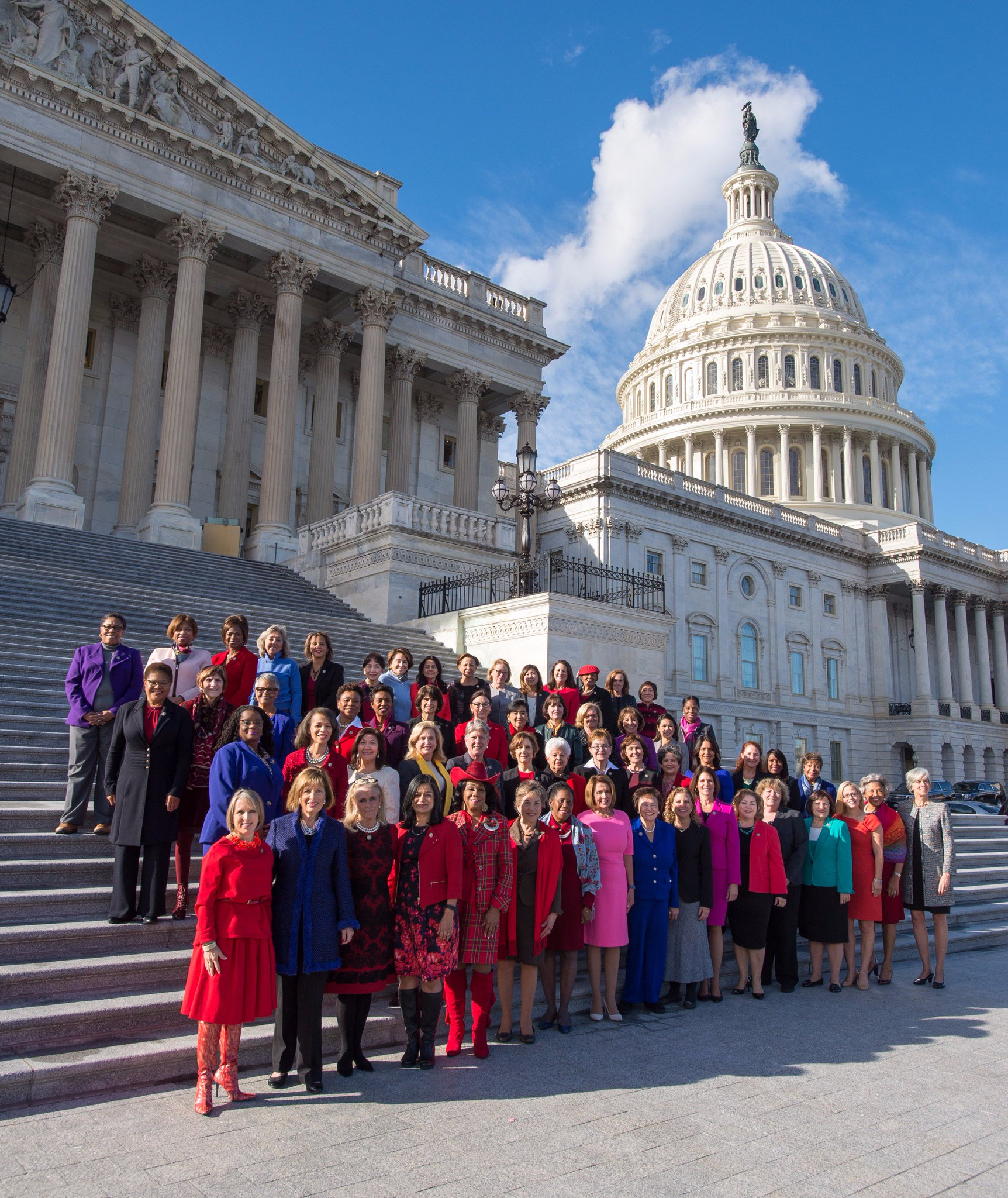 The 65 House Democratic women of the 115th Congress